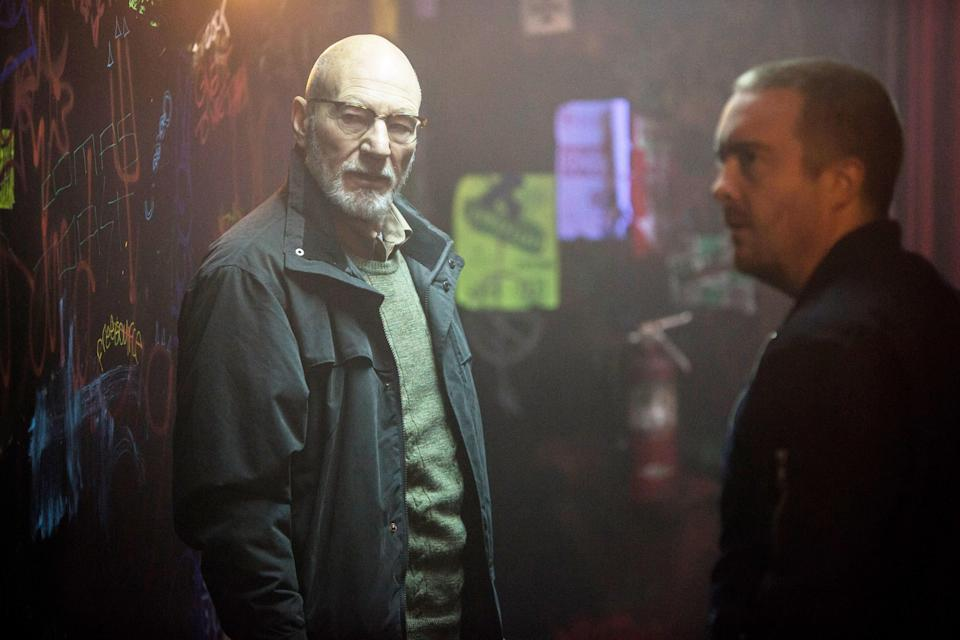 "<h1 class=""title"">GREEN ROOM, from left: Patrick Stewart, Macon Blair, 2015. ph: Scott Green/ © A24 /courtesy Everett</h1><cite class=""credit"">Courtesy Everett Collection</cite>"