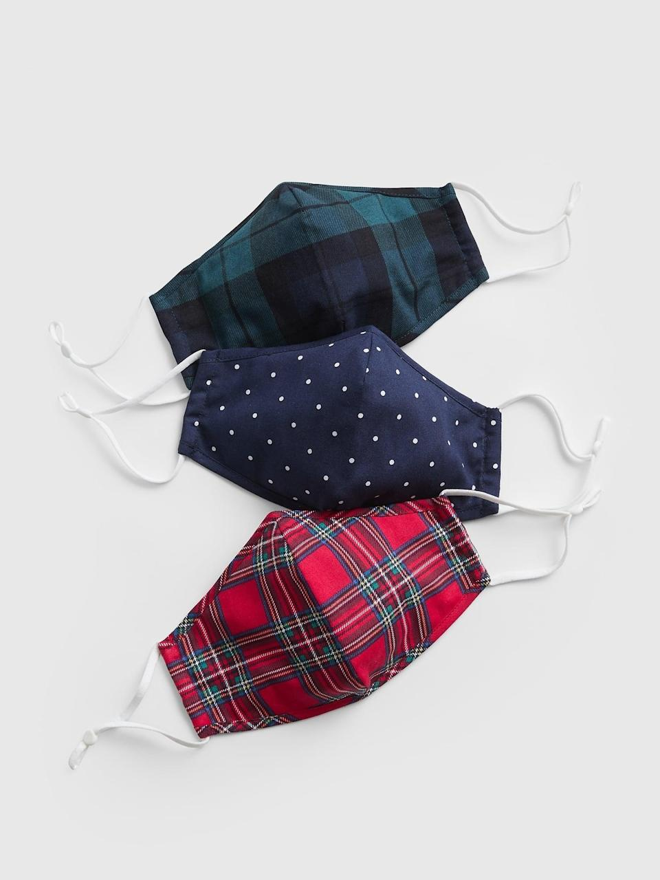 <p>We love seeing the halls decked with holiday plaid, and now you can be, too, with this <span>Gap Plaid Adult Contour Mask With Filter Pocket (3-Pack)</span> ($9, originally $18).</p>