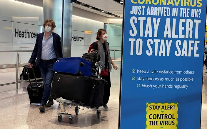 Covid restrictions combined with the end of the Brexit transition period mean Britons will be barred from travelling - REUTERS