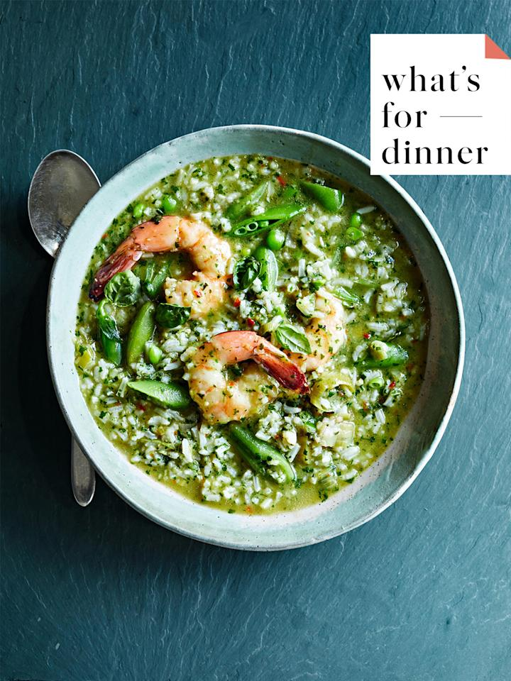 "<p>It's that time of day again! The kids are home from school, you're home from work, and you're staring blankly into the fridge as you ask yourself, ""What should we have for <a href=""https://www.marthastewart.com/2124427/freeze-ahead-dinner-recipes"">dinner</a> tonight?"" This question transcends zip codes, generations, cultural backgrounds, and socioeconomic statuses. When weekdays are busy and minutes fly by, it's easy to order a <a href=""https://www.marthastewart.com/1527614/test-kitchen-latest-greatest-pizza-recipes"">pizza</a> to-go, but it's more delicious, satisfying, and enjoyable to cook a balanced and healthy meal for your family. We're giving you some guidelines to make preparing a weeknight dinner for <a href=""https://www.marthastewart.com/1538012/new-study-children-helping-families-grocery-shop-centuries"">your family</a> more manageable.</p><p>Every month, we share dinner recipes that serve at least four people and take less than one hour to prepare (that means prep work, cook times, and any necessary marinating, cooling, or resting are complete in the time that it takes to watch an episode of NBC's <em>This Is Us</em>). We always suggest something <a href=""https://www.marthastewart.com/1525267/fast-meatless-dinner-satisfies"">meatless</a> on Monday, but feel free to mix in these vegetarian and <a href=""https://www.marthastewart.com/1140783/easy-vegan-recipes-anyone-can-make"">vegan recipes</a> throughout the rest of the week, too. When Friday rolls around, we're ready to indulge, and that means whipping up something like <a href=""https://www.marthastewart.com/1538801/spicy-green-rice-and-shrimp"">Shrimp with Spicy Green Rice</a>&nbsp;or a delicious <a href=""https://www.marthastewart.com/1532102/sheet-pan-supper-secrets"">sheet-pan supper</a> (you deserve it).<strong>&nbsp;</strong></p><p>Throughout the month of October, plan to stock up on hearty leafy greens like <a href=""https://www.marthastewart.com/274967/swiss-chard-recipes"">Swiss chard</a>, spinach, and <a href=""https://www.marthastewart.com/1538343/anna-jones-test-kitchen-visit-frying-egg"">kale</a>, winter squashes from <a href=""https://www.marthastewart.com/275653/butternut-squash-recipes"">butternut</a> to <a href=""https://www.marthastewart.com/275063/acorn-squash-recipes"">acorn</a>, and wild mushrooms. When you want to make an easy and healthy side dish recipe, <a href=""https://www.marthastewart.com/1505944/how-roast-any-vegetable"">roast</a> or saut&eacute; any of these vegetables. Plus, it helps to balance all of the <a href=""https://www.marthastewart.com/275516/halloween-cookie-recipes"">extra candy</a> you'll be consuming this month around Halloween.</p><p>Here, you'll find weeknight chicken dinner recipes, <a href=""https://www.marthastewart.com/1528965/classic-pizza-dough"">homemade pizza recipes</a>, warm noodle bowls, <a href=""https://www.marthastewart.com/1118359/fried-rice-recipes-stir-your-leftovers"">stir-fries</a>, and other dishes inspired by your favorite take-out meals.</p>"
