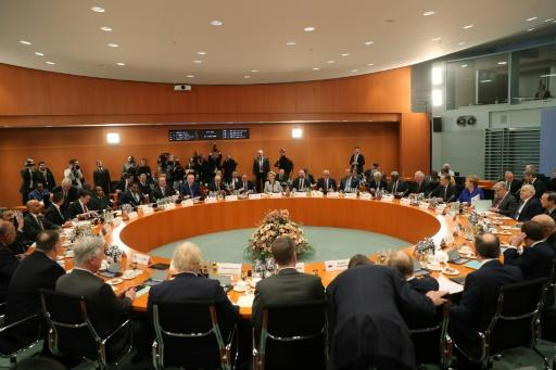 The presidents of Russia, Turkey and France were among global chiefs at the talks held under UN auspices