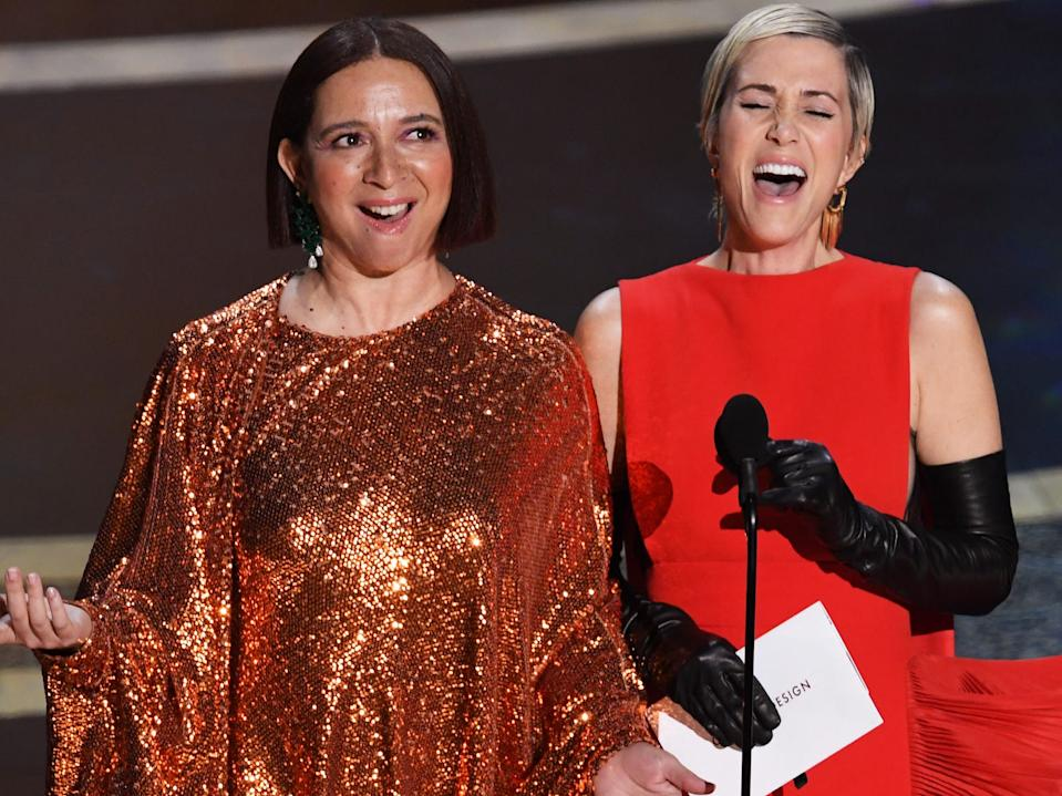 Maya Rudolph and Kristen Wiig Oscars 2020 Getty Images
