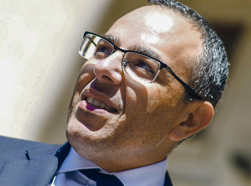 Undated file photo of Malta Prime Minister Joseph Muscat's former chief of staff Keith Schembri, who was arrested this week for questioning as a person of interest in the October 2017 car-bomb murder of journalist Daphne Caruana Galizia. After languishing for two years, the investigation has moved swiftly since a Maltese businessman was arrested on a private yacht trying to flee Malta last week. The businessman, Yorgen Fenech, provided information about Muscat's ex-chief of staff, Keith Schembri, reportedly in a bid to win immunity. (AP Photo/str)