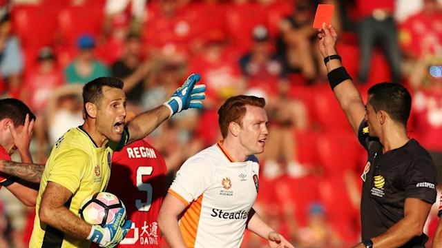 Adelaide United beat Brisbane Roar in controversial fashion, while Western Sydney Wanderers held off late pressure from Wellington Phoenix.
