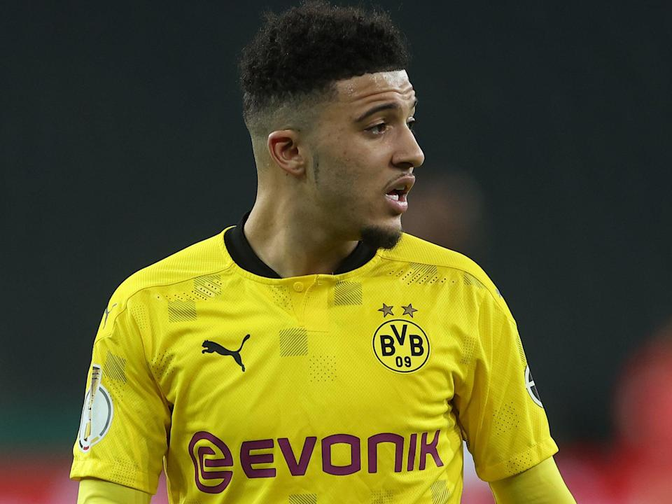 <p>Jadon Sancho has been linked with a summer move to Manchester United</p> (Getty Images)