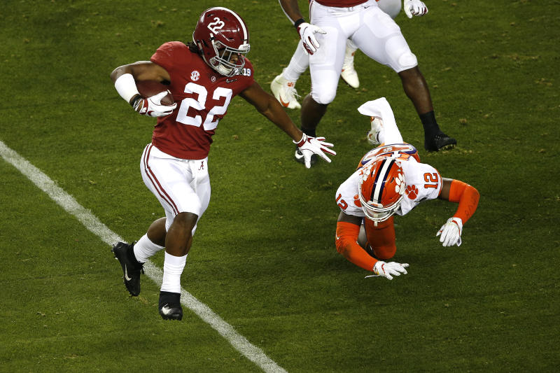 Najee Harris is set to be Alabama's lead back, but he might not be quite the NFL draft prospect that some of his predecessors have been. (Getty Images)
