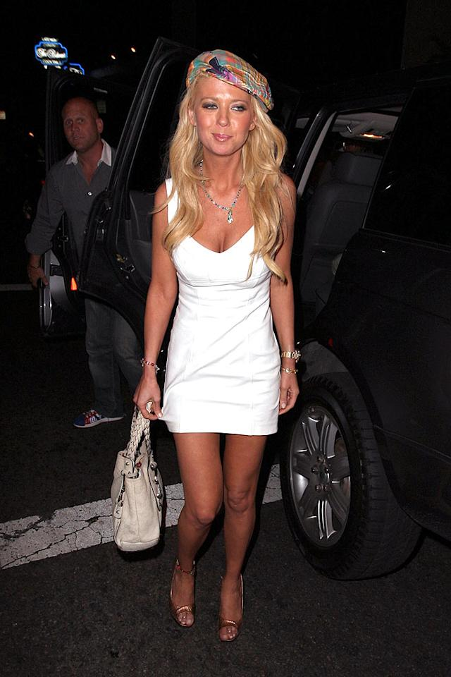 """Did Tara Reid go out on the town dressed as an Oompa-Loompa, or did she get trapped in a tanning bed? VIP/<a href=""""http://www.x17online.com"""" target=""""new"""">X17 Online</a> - July 1, 2008"""