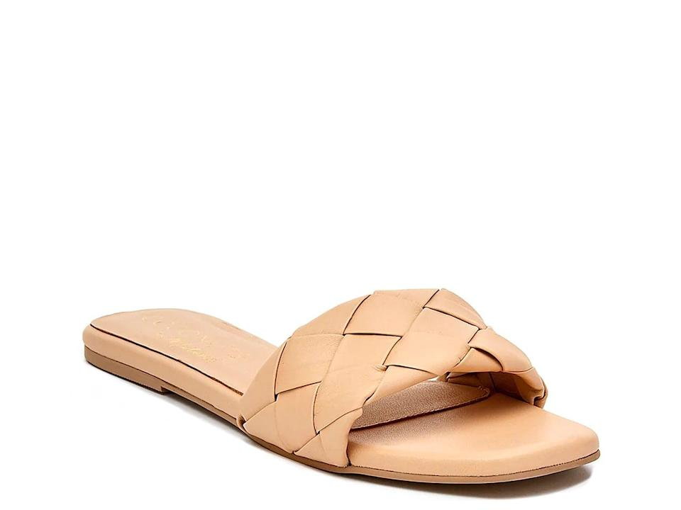 <p>All your friends will want to know where you got these cute <span>Coconuts Sweet Pea Slide Sandals</span> ($70).</p>