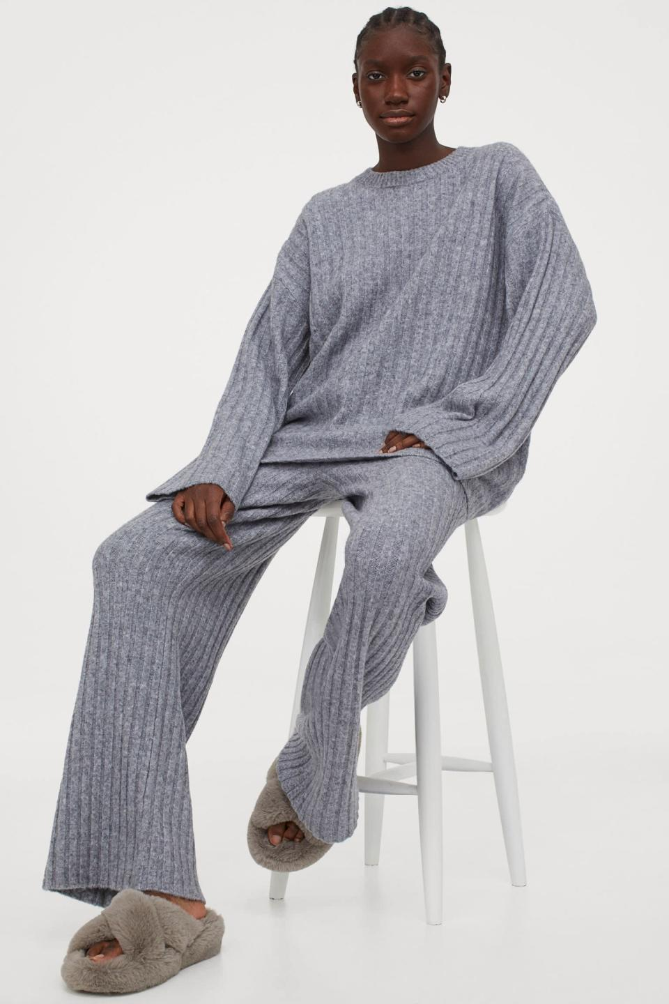 <p>Be sure to get the matching <span>Ribbed Wool-blend Pants</span> ($40).</p>