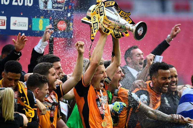 We are going up: Hull beat Sheffield Wednesday to win promotion to the Premier League in May 2016