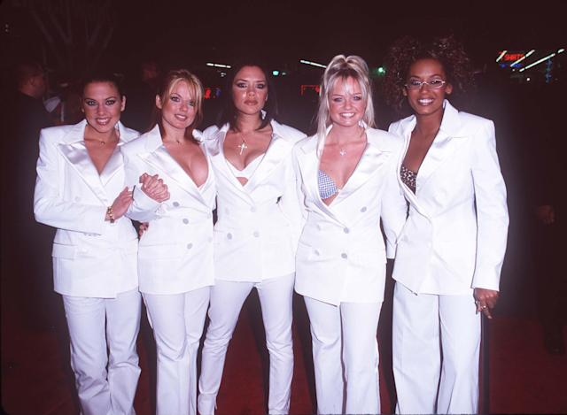 "Spice Girls at the world premiere of ""Spice World"" on January 23, 1998, in Hollywood, CA. (Photo by Steve Granitz/WireImage)"