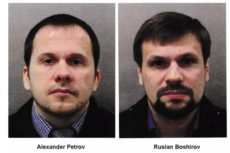 Alexander Petrov and Ruslan Boshirov were named by Scotland Yard and the Crown Prosecution Service. (Met Police)
