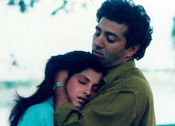 Dimple Kapadia With Sunny Deol