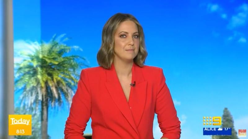 Indigenous Australian television presenter Brooke Boney on the 'Today' show on Wednesday (Photo: Channel Nine )