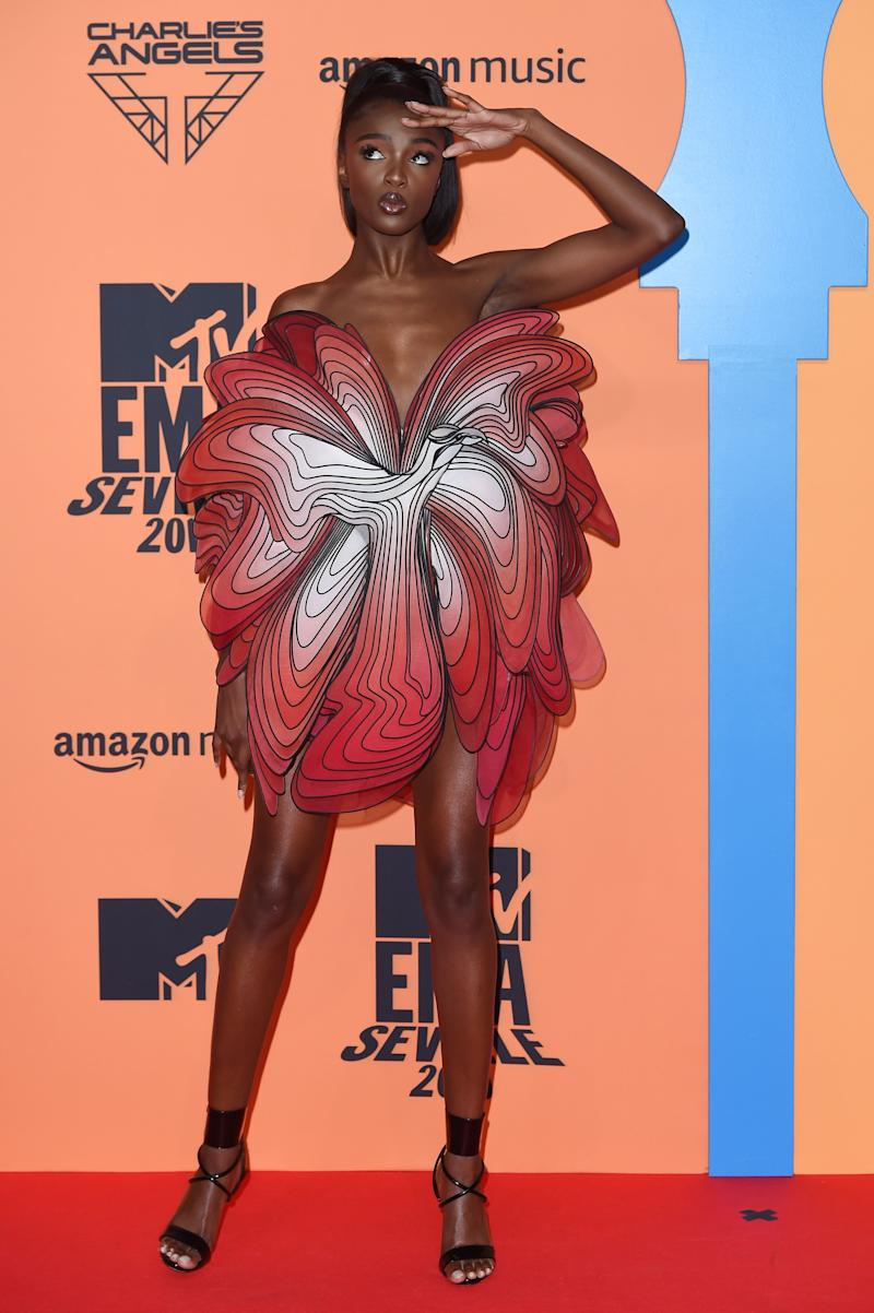 Leomie Anderson at the MTV Europe Music Awards in Seville, Spain, on Nov. 3.