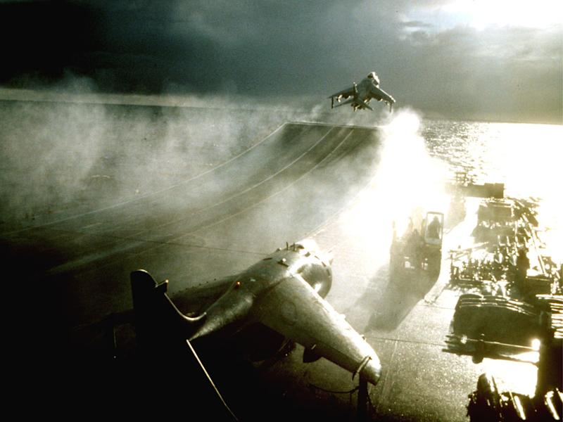 Harriers taking off at sea: Rupert Nichol/Rex Features
