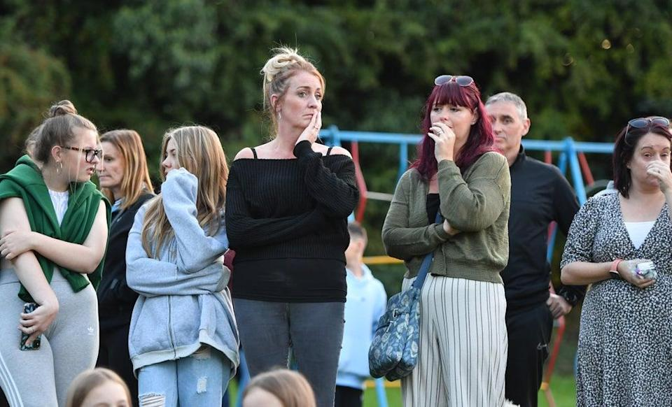 Members of the public attend the vigil (Anthony Devlin/PA) (PA Wire)