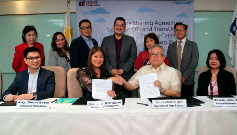 DTI, TransUnion inks deal to improve competitiveness ranking, access to finance