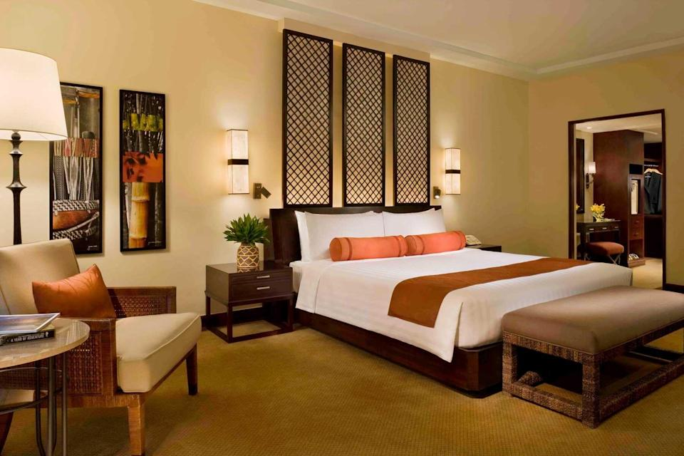 Guest room at the Peninsula Manila, voted one of the best hotels in the world