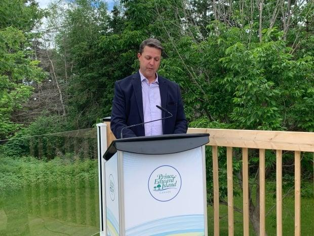 Minister of Social Development and Housing Brad Trivers made the announcement Wednesday.  (Tony Davis/CBC - image credit)