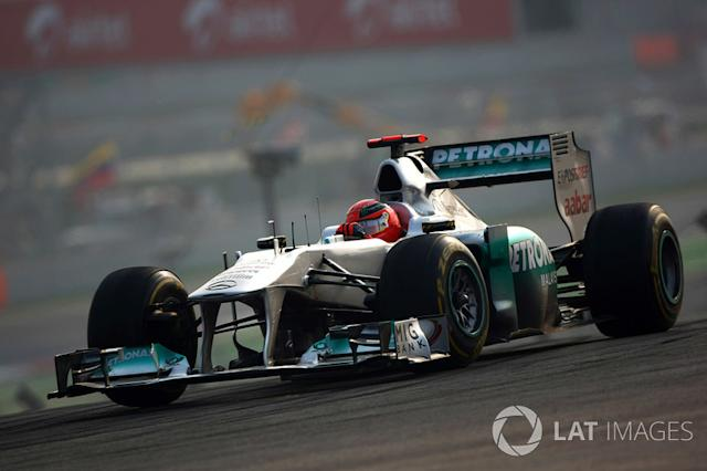 """2011: Mercedes MGP W02 <span class=""""copyright"""">Andrew Hone / Motorsport Images</span>"""