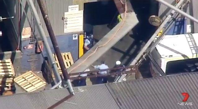 Paramedics, NSW Fire & Rescue and Police Rescue are on the scene. Photo: 7 News