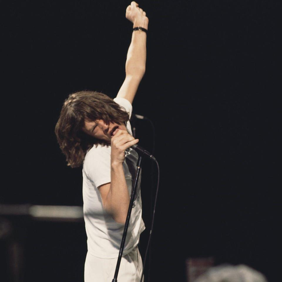 Mick Jagger on stage in 1971