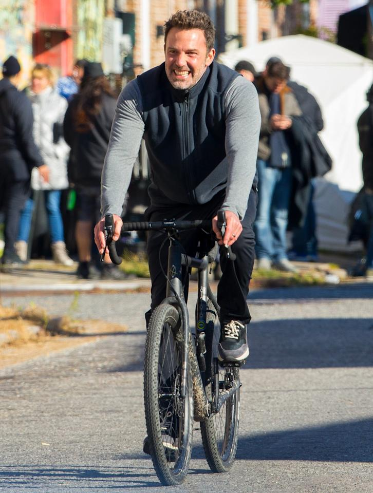 Another day, another bike ride for Ben Affleck, who takes to the streets of New Orleans on Friday.
