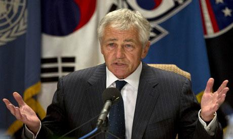 Hagel informs Egypt's Sobhi of Apache delivery in phone call