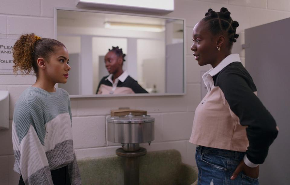 """<p>Georgia moves her children Ginny and Austin up north to start a new life. However, they are in for a rude awakening as they try to settle into their new home. </p> <p>Watch <a href=""""https://www.netflix.com/title/81025696"""" class=""""link rapid-noclick-resp"""" rel=""""nofollow noopener"""" target=""""_blank"""" data-ylk=""""slk:Ginny &amp; Georgia""""><strong>Ginny &amp; Georgia</strong></a> on Netflix now. </p>"""
