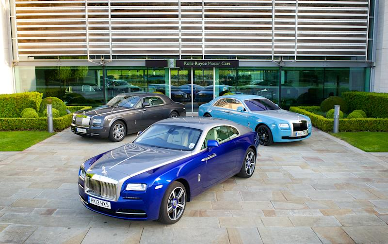 the $400,000 rolls-royce wraith towers above all other cars