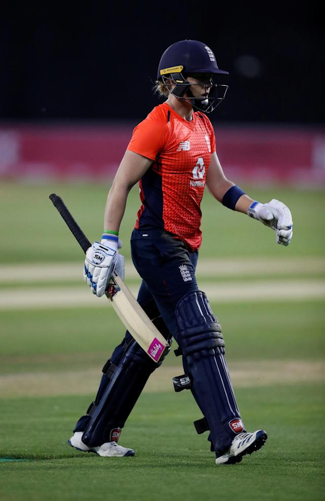 England's Heather Knight has played down her side's chances at the ICC T20 Women's World Cup Action Images via Reuters/Peter Cziborra
