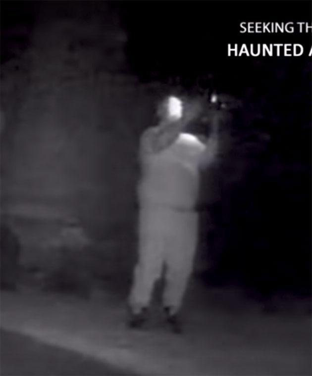 The Haunted Adventures team spotted something on camera. Photo: Youtube
