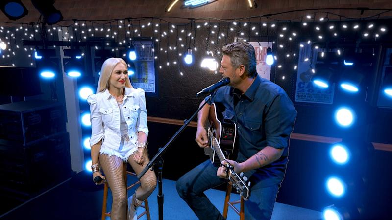 Blake Shelton and Gwen Stefani Perform 'Happy Anywhere' at ACM Awards from Their Own Bluebird Café