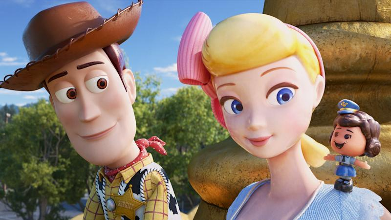 Woody and Bo Peep were reunited in 'Toy Story 4'. (Credit: Disney)