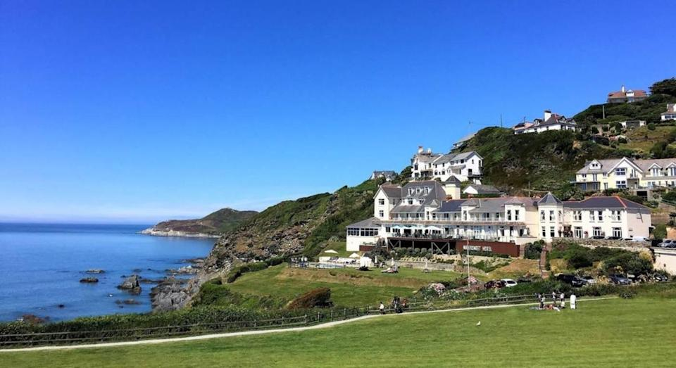 Views over Woolacombe Bay from Watersmeet Hotel. (Booking.com)