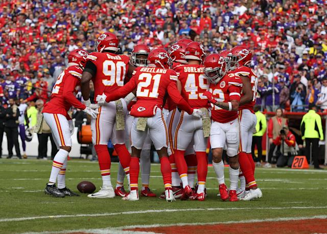 Yikes: ESPN reports the equipment bags of roughly 35 Kansas City Chiefs players weren't taken off the team plane on Saturday. (Scott Winters/Icon Sportswire/Getty Images)