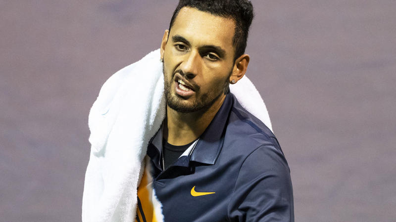 Umpire criticises Nick Kyrgios' 'borderline' effort at Shanghai Masters
