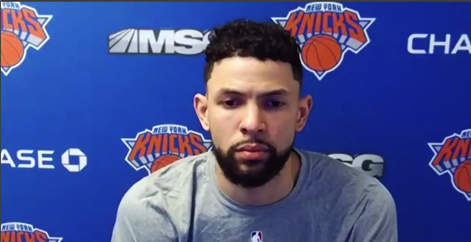 Austin Rivers during Zoom call