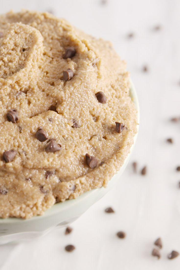 "<p>WARNING: This makes a lot of cookie dough. (Although we've never had a problem finishing it.)</p><p>Get the recipe from <a href=""https://www.delish.com/cooking/recipe-ideas/recipes/a51088/edible-cookie-dough-recipe/"" rel=""nofollow noopener"" target=""_blank"" data-ylk=""slk:Delish"" class=""link rapid-noclick-resp"">Delish</a>.</p>"
