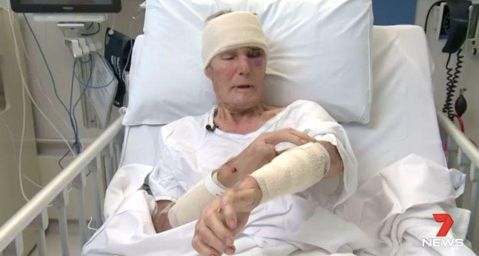 Barry Lawless, 83, was savagely bashed by a home intruder. Source: 7 News
