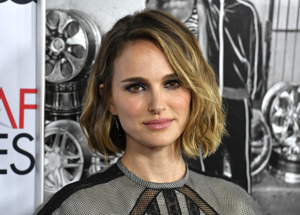 """HOLLYWOOD, CALIFORNIA - NOVEMBER 14: Natalie Portman attends AFI FEST 2019 Presented By Audi – """"Queen & Slim"""" Premiere at TCL Chinese Theatre on November 14, 2019 in Hollywood, California. (Photo by Frazer Harrison/Getty Images)"""