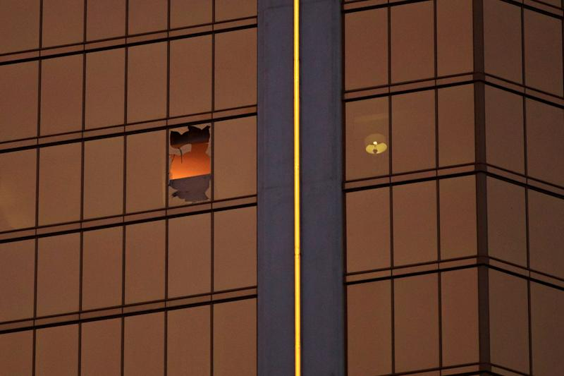Stephen Paddock shot at a Las Vegas country music festival from a shattered window in his 32nd-floor suite at the MGM-owned Mandalay Bay Resort and Casino.