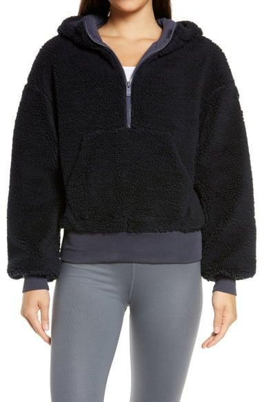 <p><span>Alo Streetside Half Zip Faux Fur Hoodie</span> ($59, originally $158)</p>