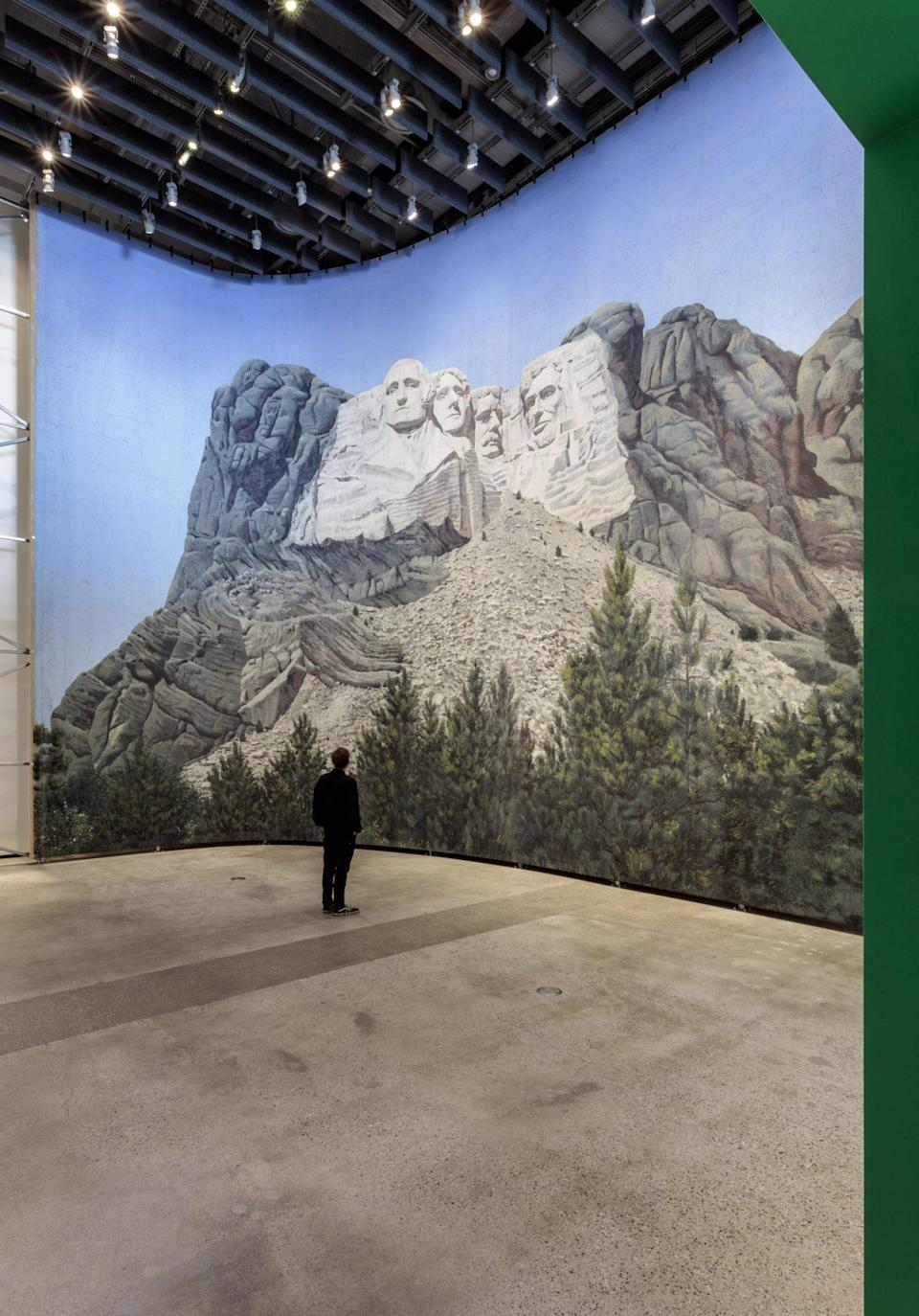 <p>Another gallery, Backdrop: An Invisble Art, boasts large set pieces like this Mount Rushmore from Alfred Hitchcock's <em>North by Northwest.</em></p>