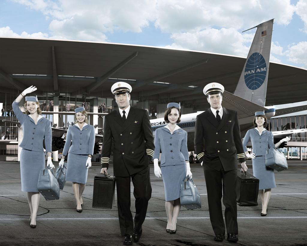 """<b>""""Pan Am""""</b> (ABC)<br>Wrapped Feb. 19; aired Sundays at 10 PM<br><br><b>The Good News:</b> Of the fall's two 1960s-era period dramas that were unfortunately compared to """"Mad Men,"""" """"Pan Am"""" at least outlasted """"The Playboy Club.""""<br><br><b>The Bad News:</b> More than 11 million checked out the premiere after """"Desperate Housewives,"""" but perhaps the light, soapy adventures of girdled up Pan Am stewardesses -- one of them a spy! -- seemed tame compared to the Wisteria Lane shenanigans. By the fourth episode, half those viewers had fled. The 12th and final episode of the season posted a 1.2 in the demo, far behind what its replacement """"GCB"""" is doing."""