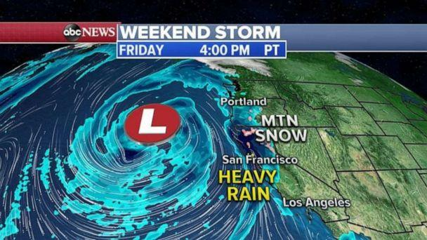 PHOTO: Weekend storm (ABC News)