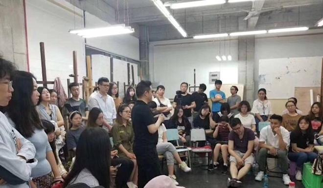 Pang Maokun said life drawing was not a problem for his students. Photo: Weibo