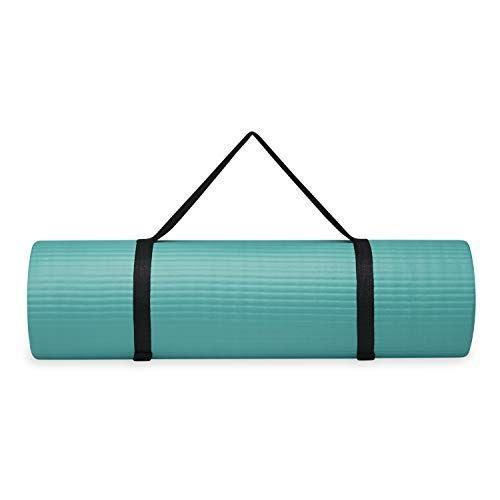 """<p><strong>Gaiam</strong></p><p>amazon.com</p><p><strong>$33.08</strong></p><p><a href=""""https://www.amazon.com/dp/B07H9PZ42P?tag=syn-yahoo-20&ascsubtag=%5Bartid%7C2140.g.33765307%5Bsrc%7Cyahoo-us"""" rel=""""nofollow noopener"""" target=""""_blank"""" data-ylk=""""slk:Shop Now"""" class=""""link rapid-noclick-resp"""">Shop Now</a></p><p>At nearly a half-inch thick, this mat will help support your Gram or Gramps through their next at-home yoga or stretching sesh.</p>"""