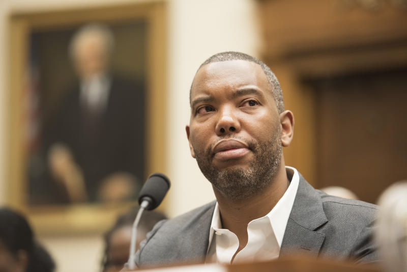 Washington DC , June 19, 2019, USA: Ta-Nehisi Coates testifies at the House Judiciary Subcommittee on the Constitution, Civil Rights, and Civil Liberties will hold a hearing on H.R. 40, the Commission to Study and Develop Reparation Proposals for African-Americans Act. The purpose of the hearing is to examine, through open and constructive discourse, the legacy of the trans-Atlantic slave trade, its continuing impact on the community and the path to restorative justice. Witness include Senator Cory Brooker, D-NJ; Actor Danny Glover; NFL Super Bowl Champ and author, Burgess Owensand others. Patsy Lynch/Media Punch /IPX